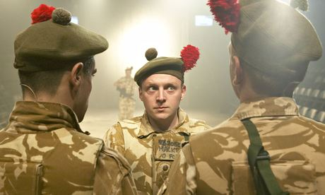 A scene from the play Black Watch, at the National Theatre of Scotland