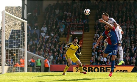 Chelsea's  John Terry scores an own goal in the Premier League against Crystal Palace