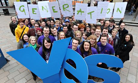 Generation Yes Scottish independence supporters