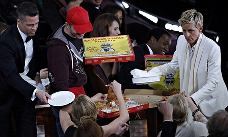 Guardian Oscars Ellen DeGeneres delivers pizza