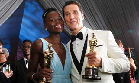 <em>Easily</em> the best speeches …Matthew McConaughey and Lupita Nyong'o.
