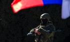 Armed military personnel in Simferopol, Crimea