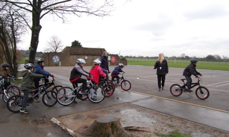 Cycling training for John Bramston primary school students