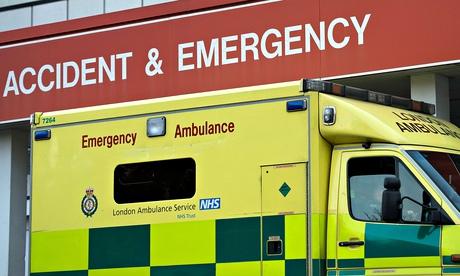 Ambulance outisde A & E