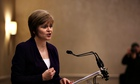 Deputy First Minister Nicola Sturgeon addresses the Scottish Council for Development and Industry