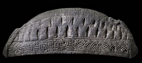 A hogback tombstone from Govan Old Parish Church, Glasgow