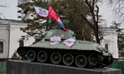 Pro-Russia Support Visible in Simferopol Amid Military Build Up