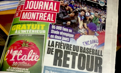 The local press was teeming with coverage of baseball's visit to the Stade Olympique.