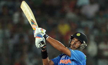 Yuvraj Singh has delivered a solid innings so far for India.