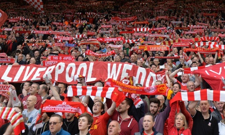 Liverpool fans have seen their team go top of the league with just six games to play.