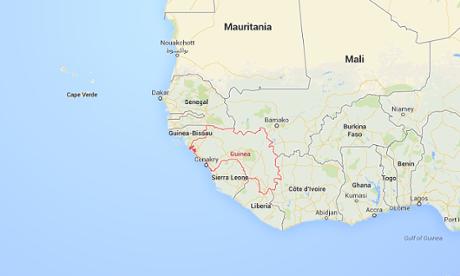 guinea google maps