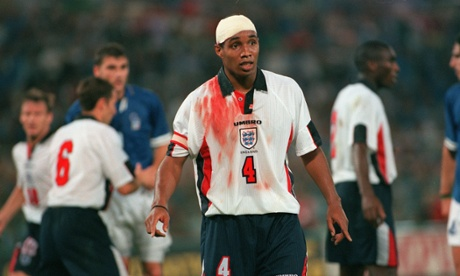 Paul Ince captains England in the decisive 1997 World Cup qualifier against Italy.