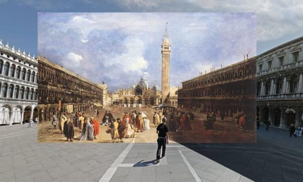The Piazza San Marco towards the Basilica 1760-5 Francesco Guardi VENICE copy(1)
