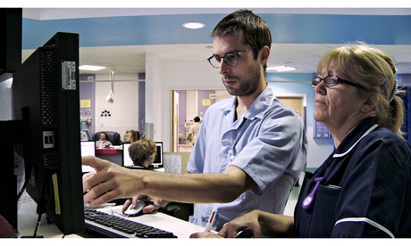 Staff at work at Queen's hospital in Romford