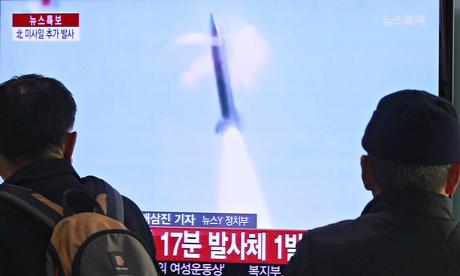 DPRK fires short-range missiles in order to protest Ersus. Korea-US  <b> battle games </b>