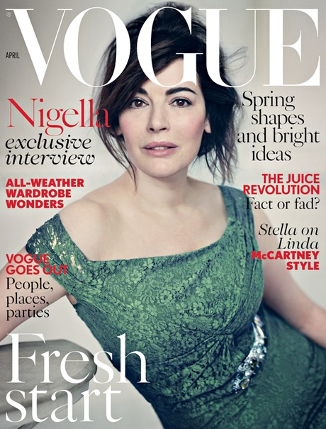 Vogue April 2014 Cover with Nigella Lawson