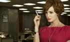 Christina Hendricks smokes in Mad Men