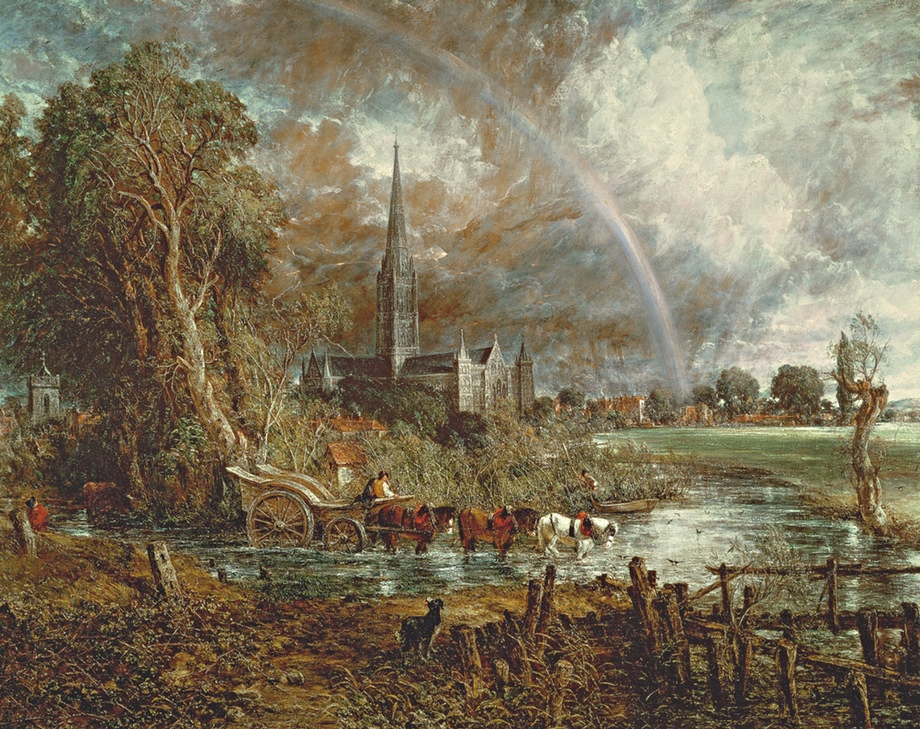 Constable S Salisbury Cathedral From The Meadows Set For