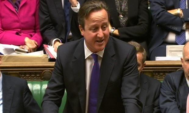 David Cameron is taking PMQs.