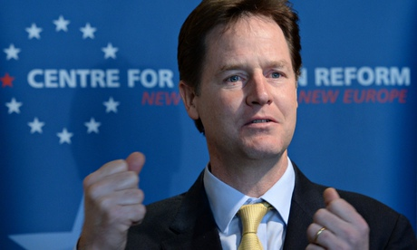 Nick Clegg speaking at the Centre for European Reform