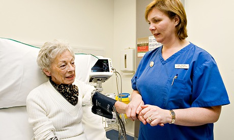 older patient receives care