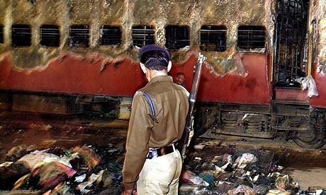 The remains of the train, in which 59 Hindu activists were killed in 2002 in Gujarat.