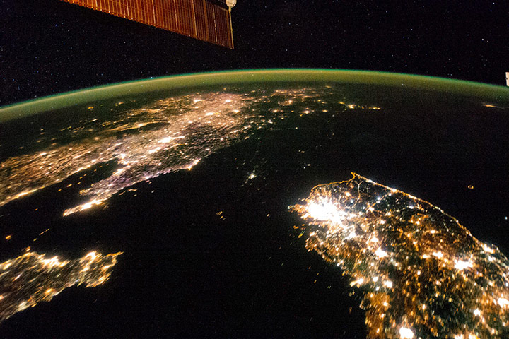 Satellite Eye on Earth: Night image of the Korean Peninsula