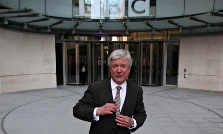 BBC director general Tony Hall outside Broadcasting House