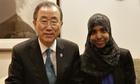 Ban Ki-moon and Fahma Mohamed