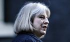 Britain's Home Secretary Theresa May leaves after a Cabinet meeting at 10 Downing Street in London
