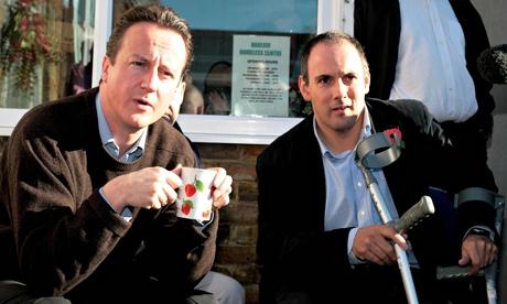 Conservative leader, David Cameron, and MP Robert Halfon in Harlow