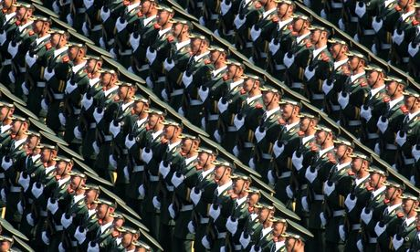 Soldiers from the Chinese People's Liberation Army (Photograph: Chinafotopress/Getty Images)