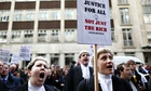 Barristers at legal aid protest