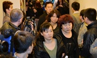 Relatives of passengers on the missing Malaysia Airlines flight MH370