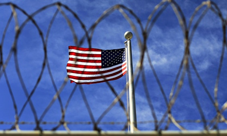 The US flag flying at Guantanamo Bay