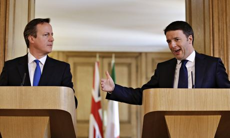 David Cameron Welcomes Italian PM Matteo Renzi