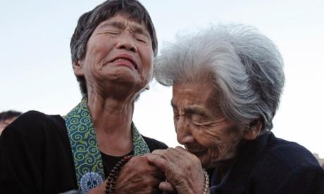 Tsuyuko Nakao and Kinuyo Ikegami, both bereaved family members of the ...