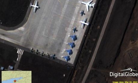 Penumpukan Militer Rusia di Perbatasan Ukraina dari Citra Satelit