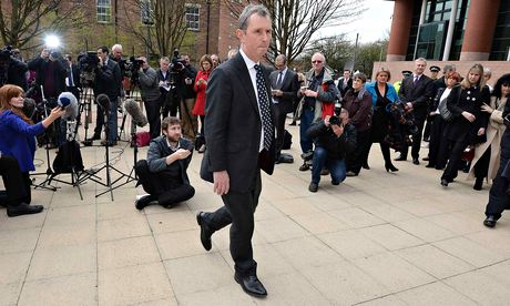 Nigel Evans outside Preston crown court