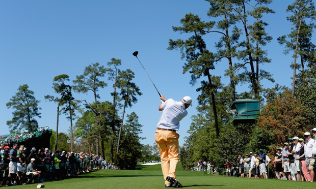 Bill Haas, your first-round Masters leader.