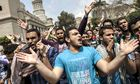 Egyptian students, supporters of the Muslim Brotherhood and ousted Islamist president Mohamed Morsi,