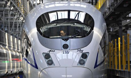 A Chinese high-speed Harmony bullet train