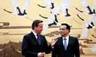 David Cameron meets Chinese premier Li Keqiang during his Beijing trip