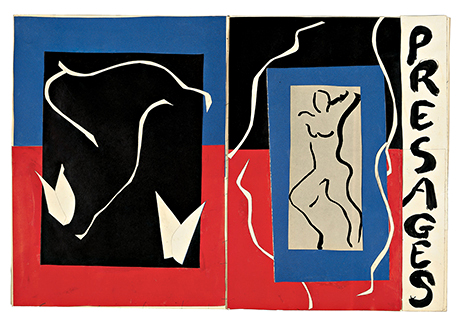 Henri Matisse - Cover maquette for Verve I, winter 1937