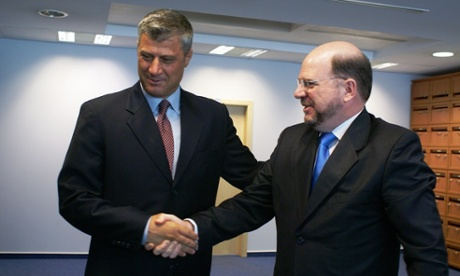 Christopher Dell with Kosovo PM