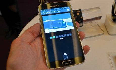 Samsung Galaxy S5 smartphone fingerprint sensor hacked