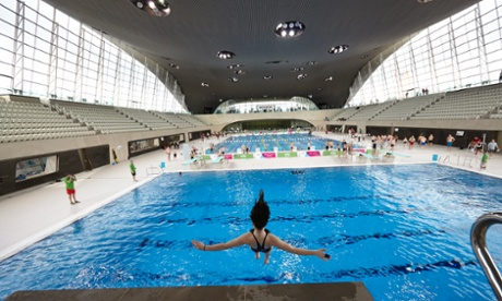 The Zaha Hadid-designed London aquatic centre, in Stratford operates unisex changing rooms