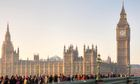 View of the Houses of Parliament, Westminster, London.