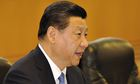 The Chinese president Xi Jinping pseaking
