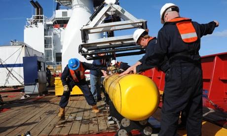 Bluefin-21 on board Ocean Shield